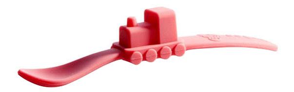 Ложка детская Oogaa Ложка розовая в форме поезда фото