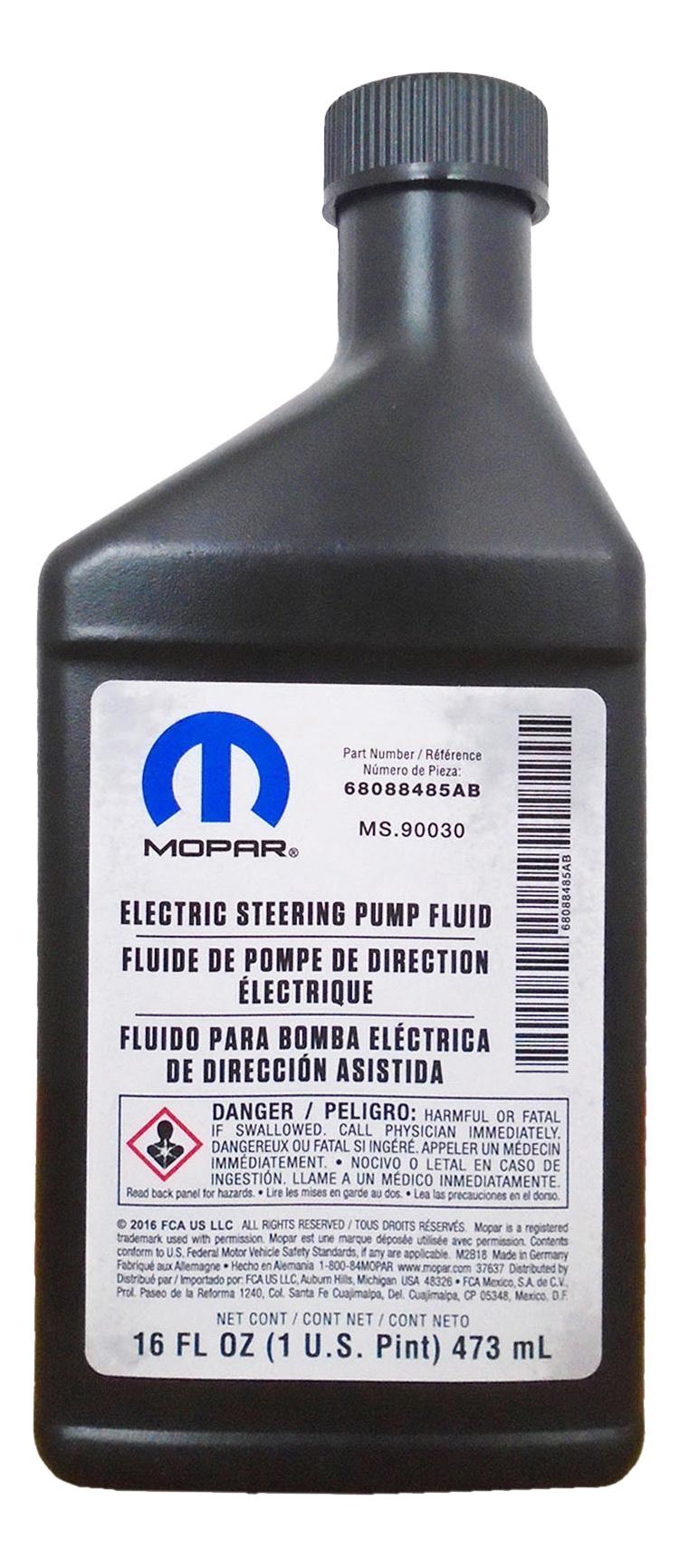 Гидравлическое масло MOPAR 0.473л 68088485AB
