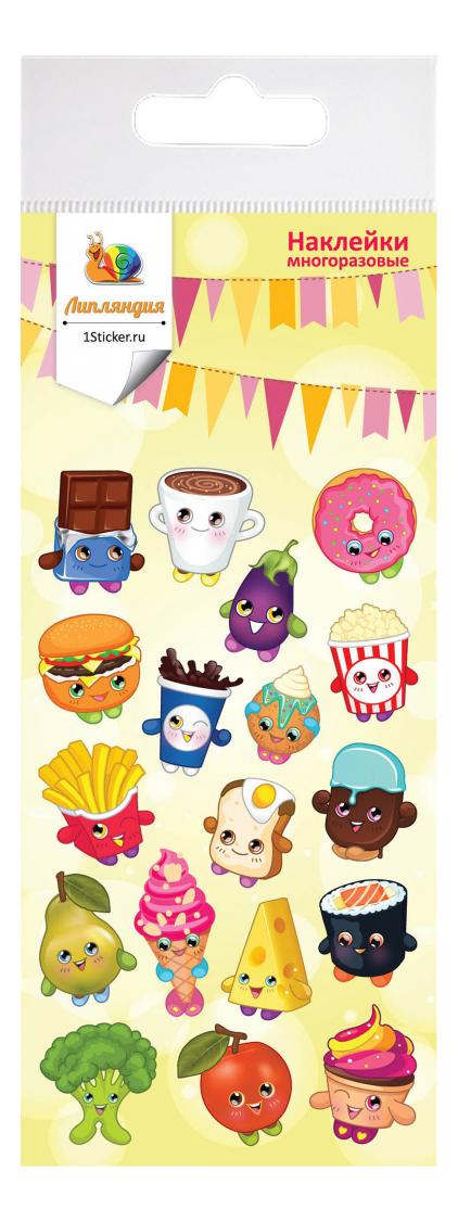 Наклейка декоративная для детской комнаты Липляндия Еда с глазами 1
