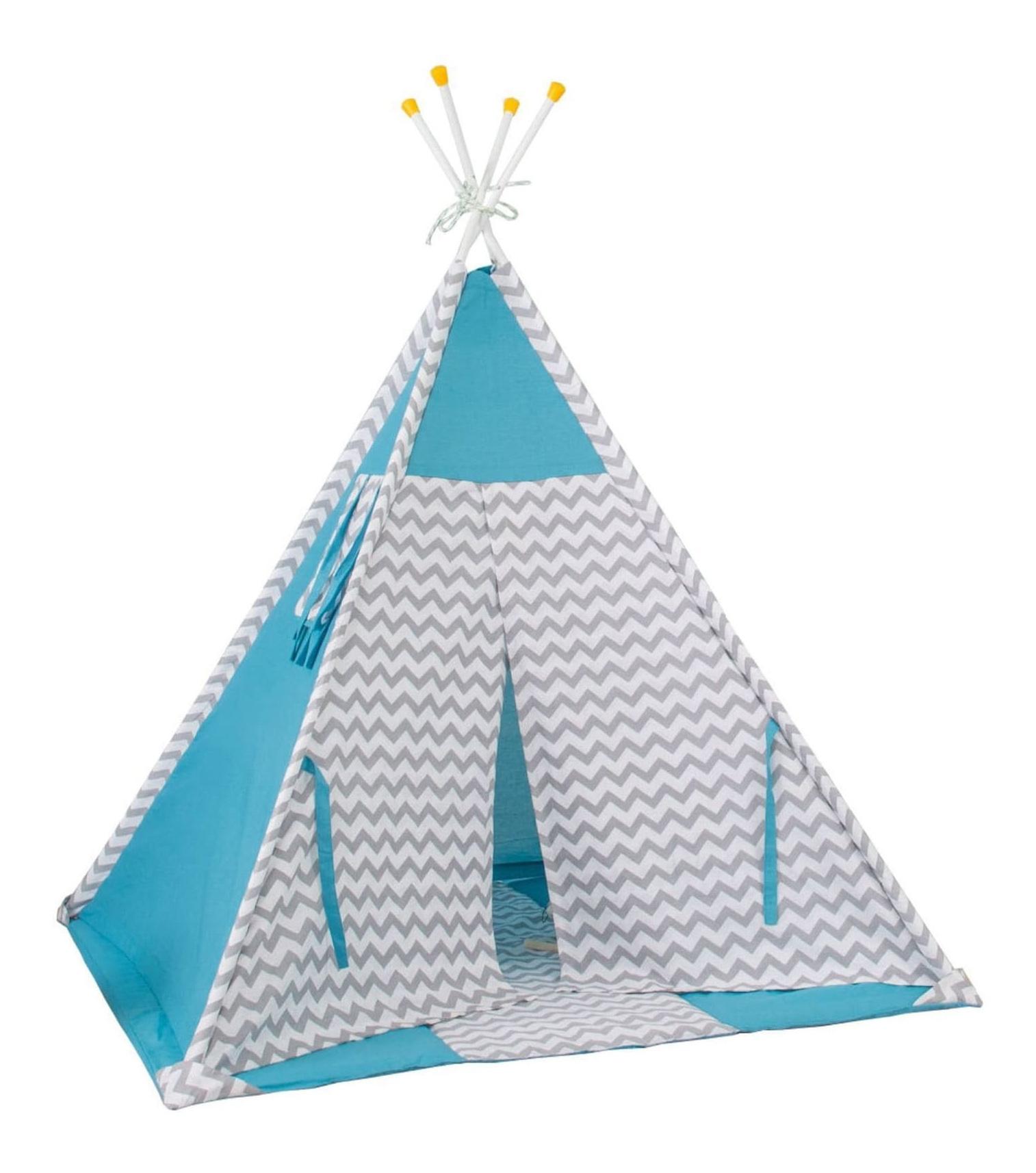 Игровая палатка Polini Зигзаг, голубой