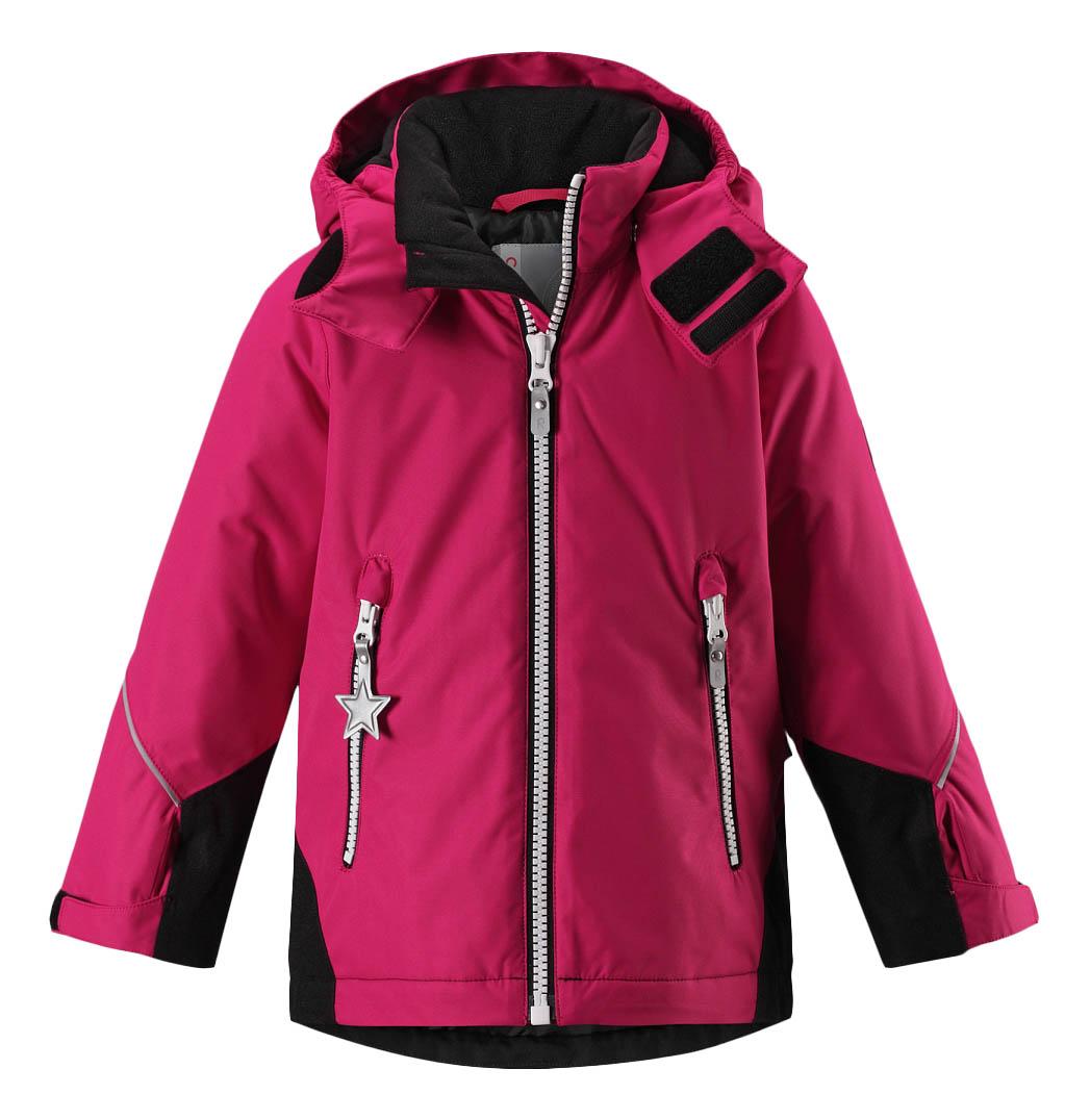 Куртка Reima зимняя Reimatec Kiddo Botnia черно-розовая р.110 фото