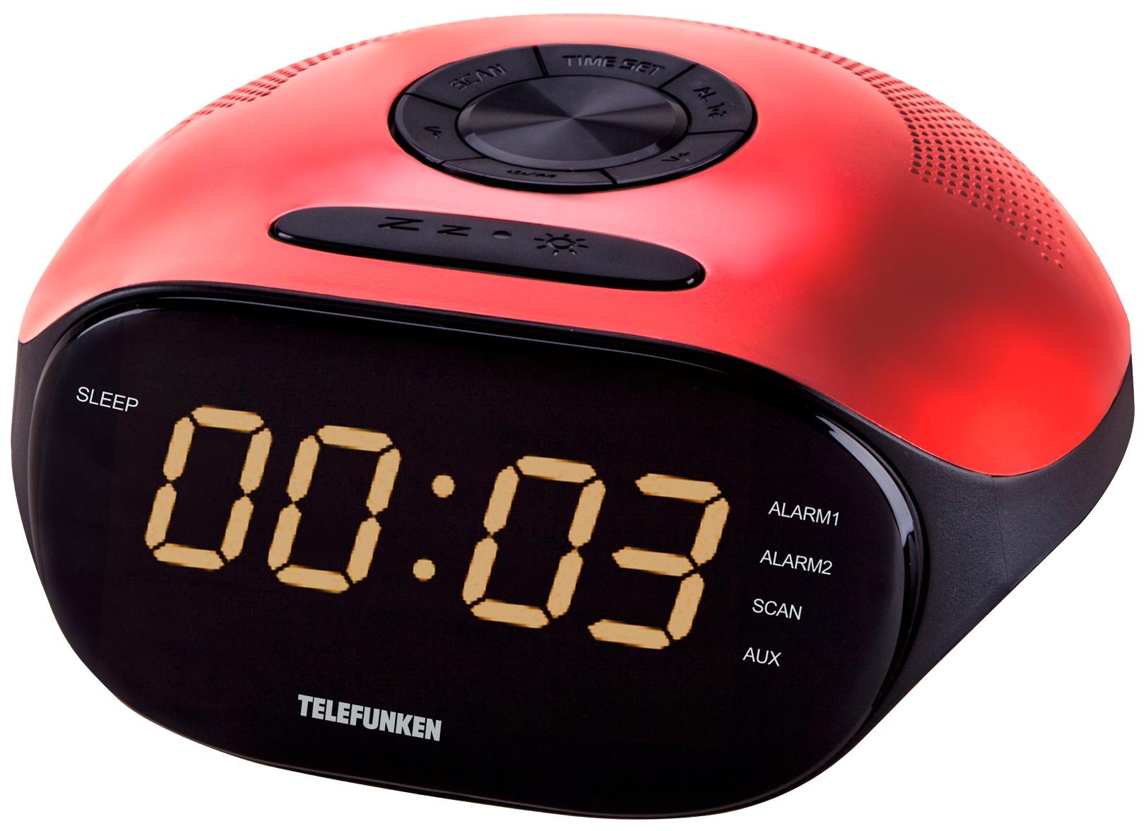 Радио часы Telefunken TF 1574 Красный