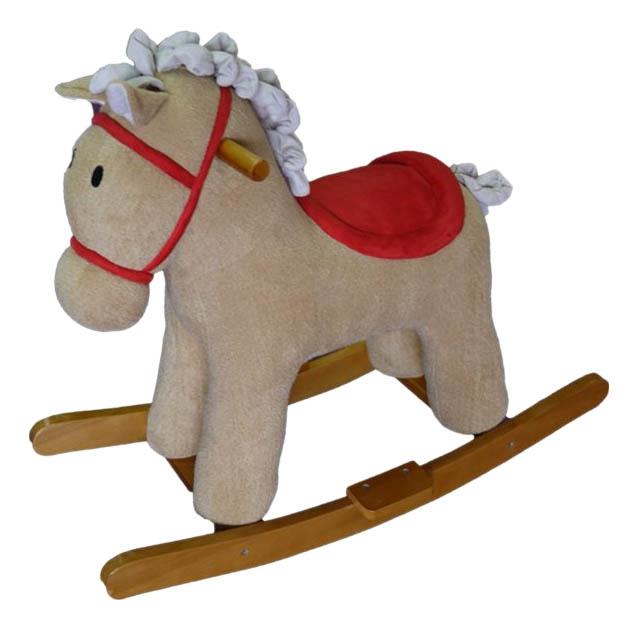 Купить Лошадка-качалка Мультик бежевый 65 см Shantou Gepai 611033, Качалки детские