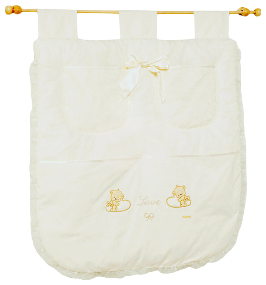 Купить Italbaby Настенный карман Italbaby Love крем 710, 0040-, Текстильный карман в детскую кроватку Italbaby Love 710, Аксессуары для детской комнаты