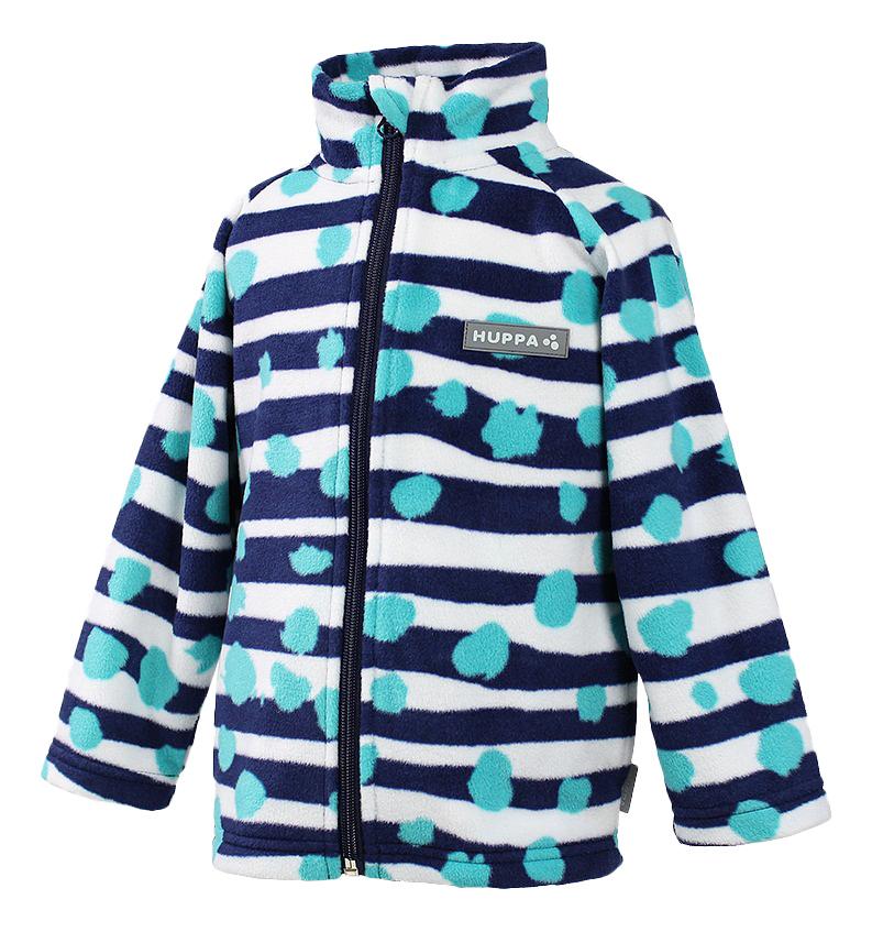 Купить 1501base-63386, Жакет Huppa Флисовый Berrie темно-синий с принтом р.110, Термобелье для девочек