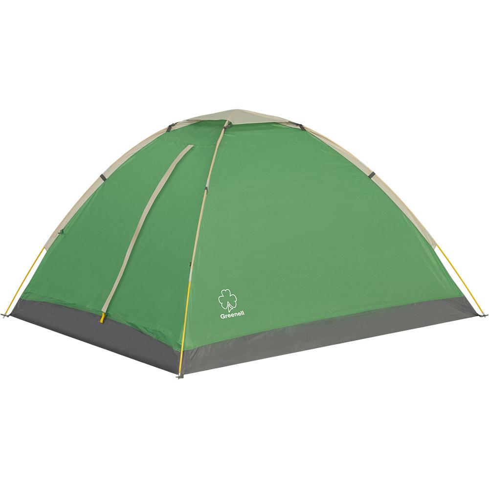 Палатка Greenell Моби V2 трехместная зеленая/серая