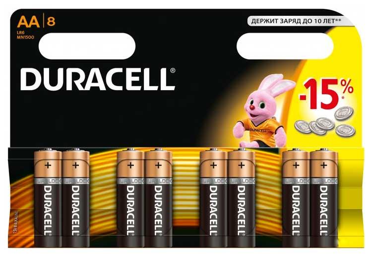 Батарейка Duracell Basic MN1500 AA 8 шт фото