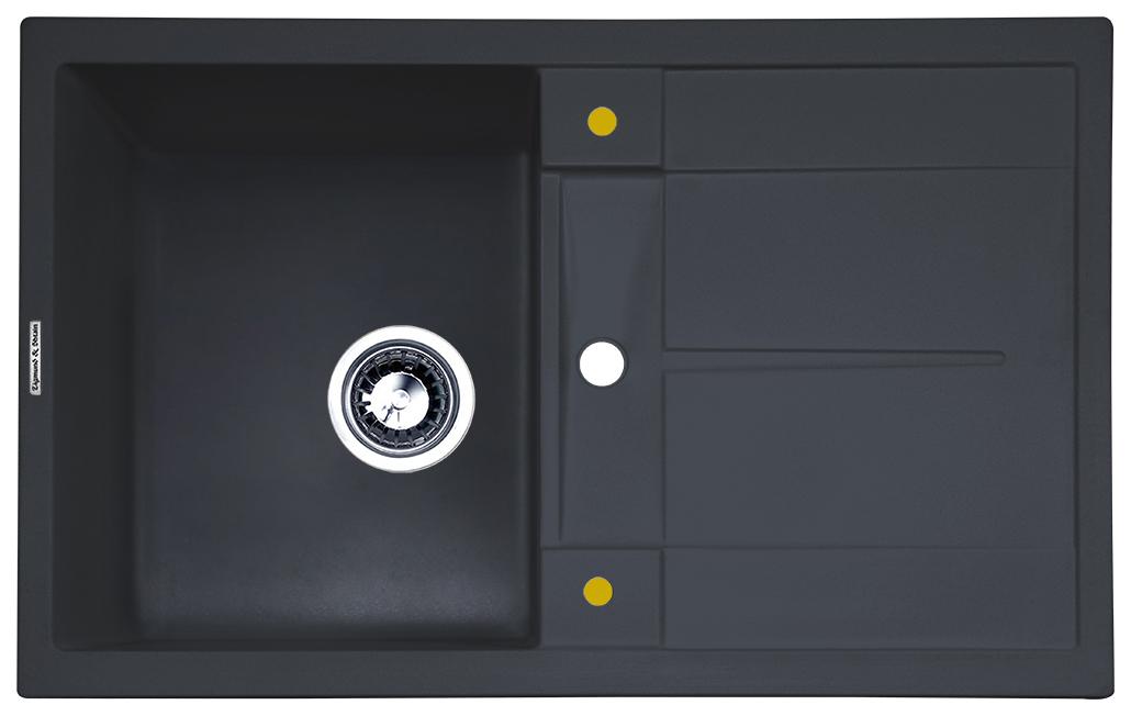 Мойка для кухни гранитная Zigmund & Shtain Rechteck 780 черный базальт фото