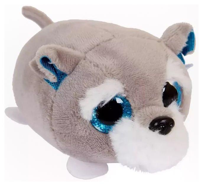 Мягкая игрушка ABtoys Собачка серая, 10 см
