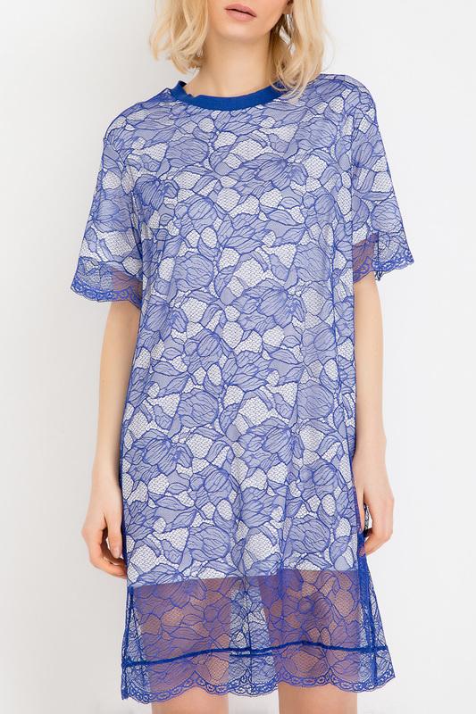 Платье женское BGN S17D9060 синее 46 RU
