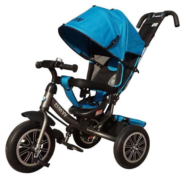Купить Трехколесный велосипед BMW с ручкой-толкателем (свет, звук), голубой Lexus Trike, Детские велосипеды-коляски