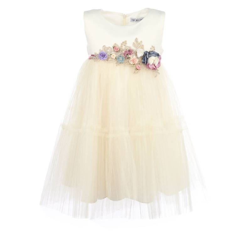 Купить Платье Ангел-плиссе UNONA D'ART, цв. белый, 116 р-р, Детские платья и сарафаны
