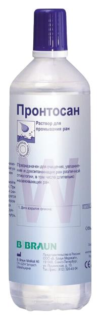 Купить 210697, Раствор Пронтосан для промывания длительно не заживающих ран 350 мл, B.Braun