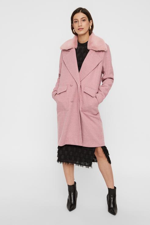 Пальто женское Y.A.S 26016462 розовое S.
