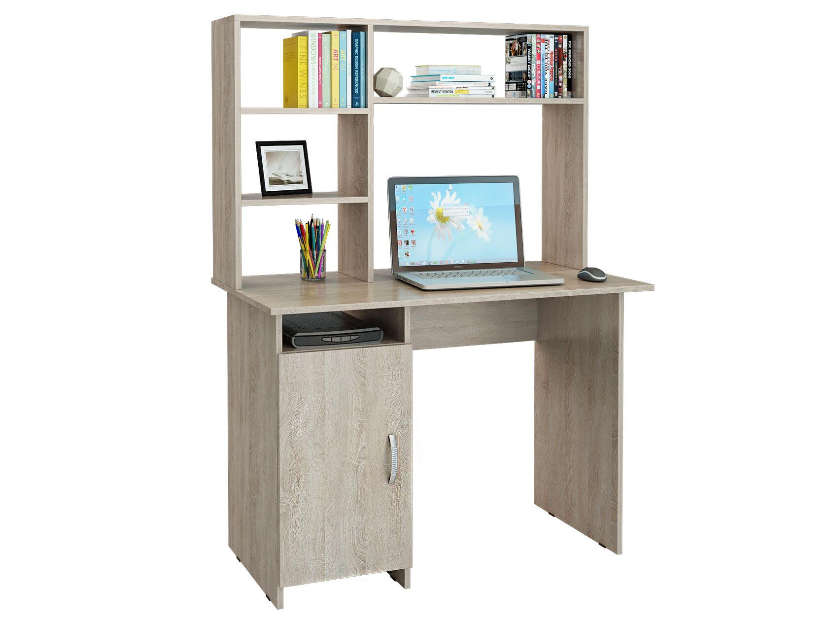 Компьютерный стол МФ Мастер Милан-8 110x60x145, дуб сонома