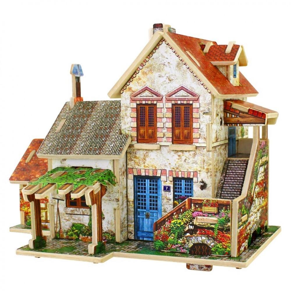 Купить 3D деревянный пазл Robotime Фрацузская серия Дом фермера F124, 3D пазлы