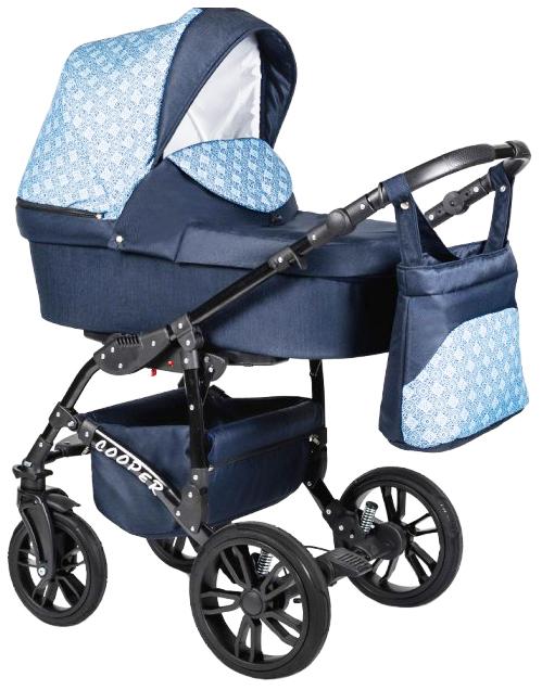 Купить Коляска 2-в-1 Alis Cooper темно-синий темно-синий узор, Детские коляски 2 в 1