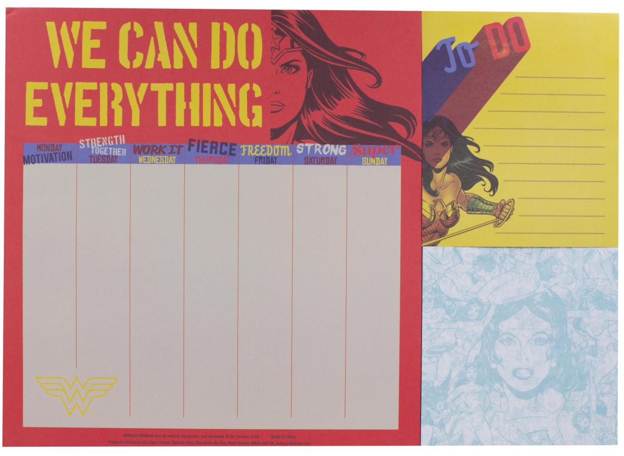 Настольный планировщик Wonder Woman A4 Desk Planner (CDU 12) фото