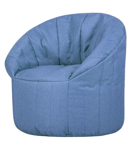 Кресло бескаркасное Папа Пуф Club Chair Blue, размер XL, рогожка, синий
