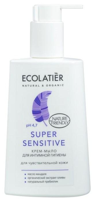 Крем мыло для интимной гигиены ECOLATIER Super