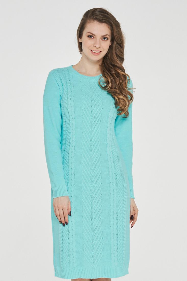Платье женское VAY 182-2347 зеленое 46 RU фото