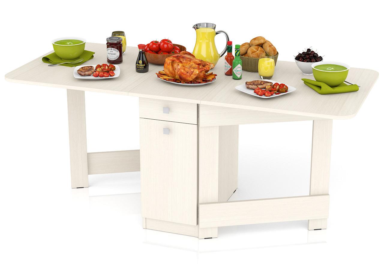 Кухонный стол Мебельный Двор Стол-книжка обеденный СО-05 дуб 180х80х75 см дуб фото