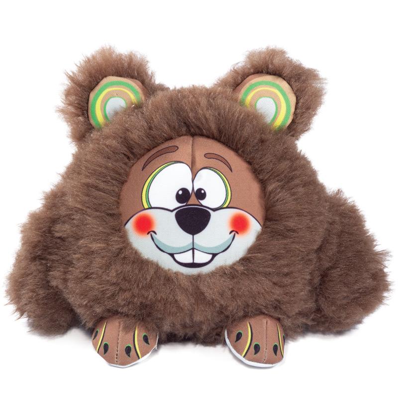 Мягкая игрушка для собак Triol Забавный бобер, коричневый, 24 см фото