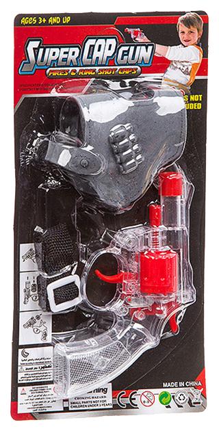 Оружие пистолет прозрачн.с кобурой, CRD 26x13,5x3 см, арт.138-7. фото