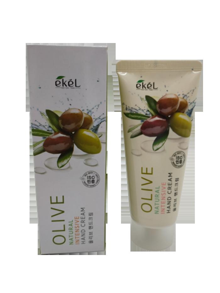 Купить Крем для рук с оливой Ekel Natural Intensive Hand Cream Olive 100 мл