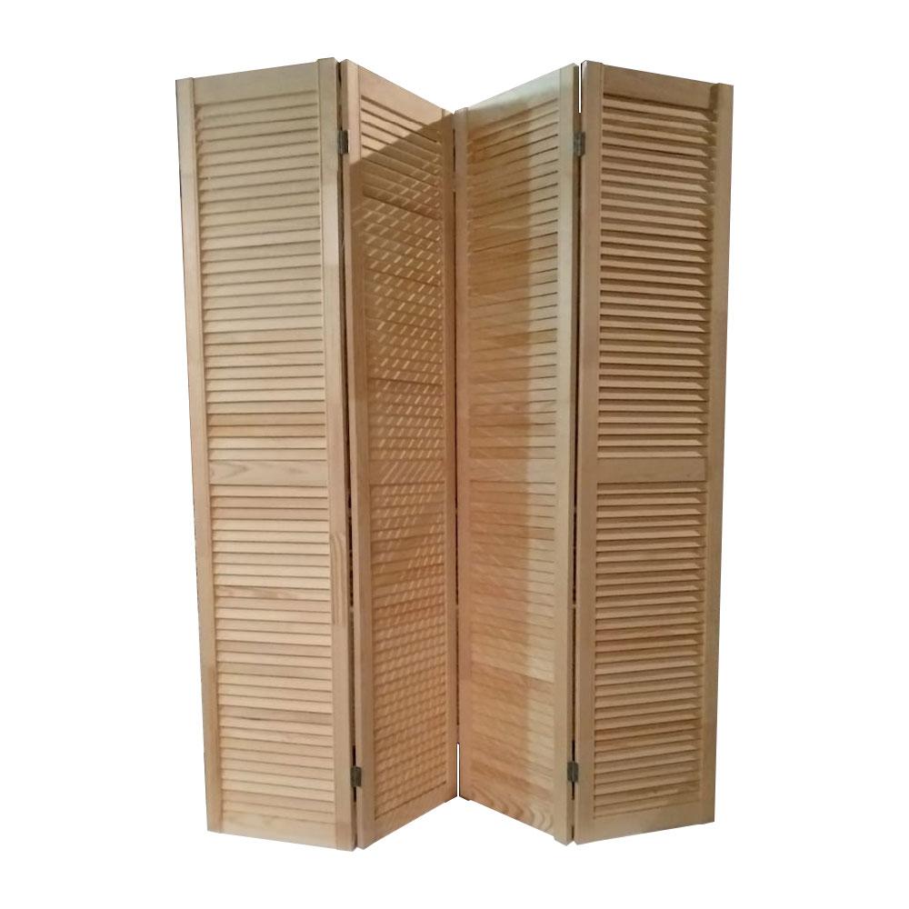 Ширма деревянная жалюзийная ДваДома 4 секционная, Размер