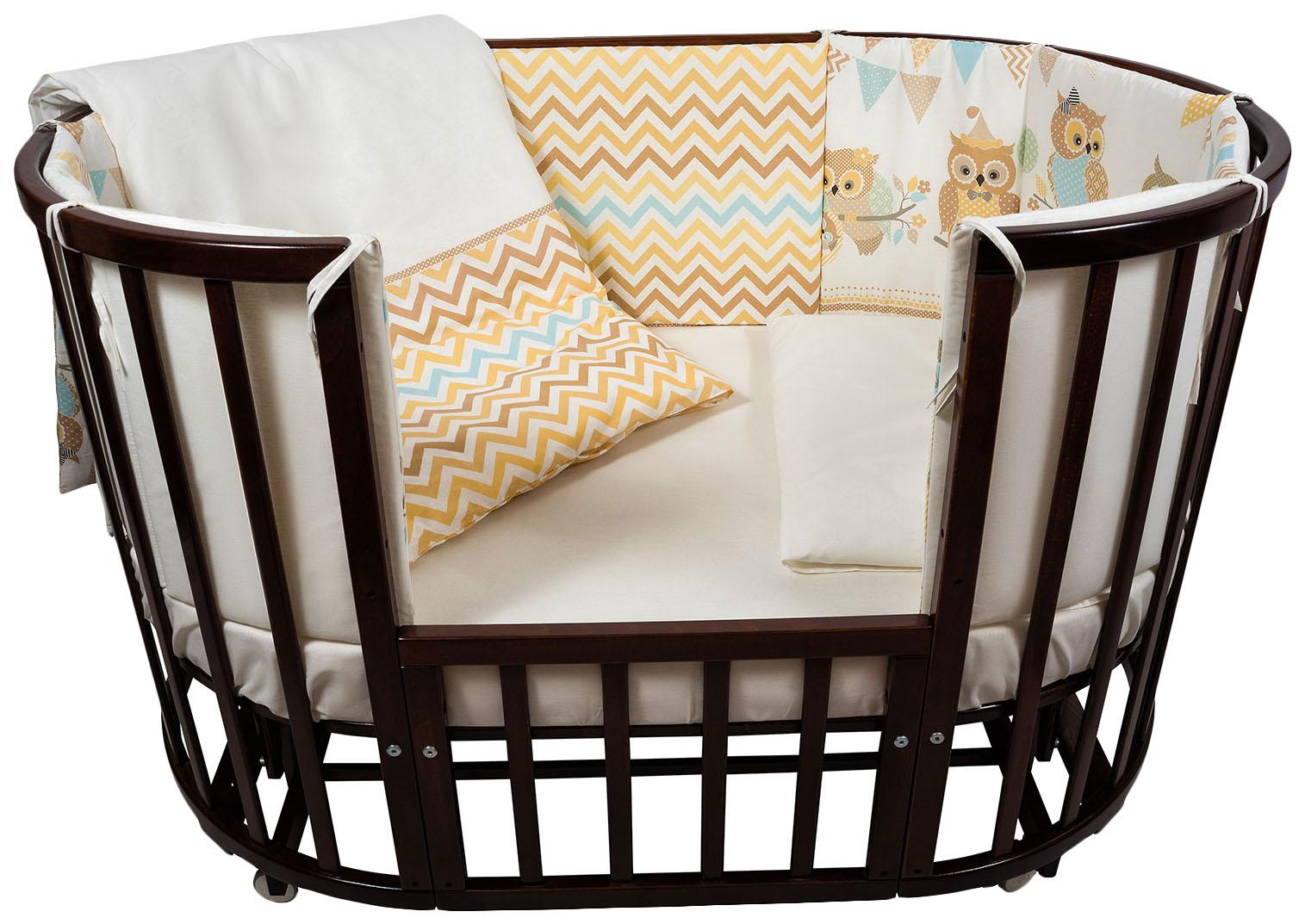 Комплект детского постельного белья Nuovita Gufi 6081_40 Бежевый фото