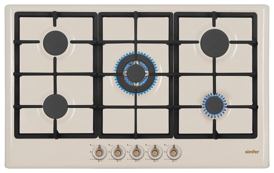 Встраиваемая варочная панель газовая Simfer H90W51O517 Beige