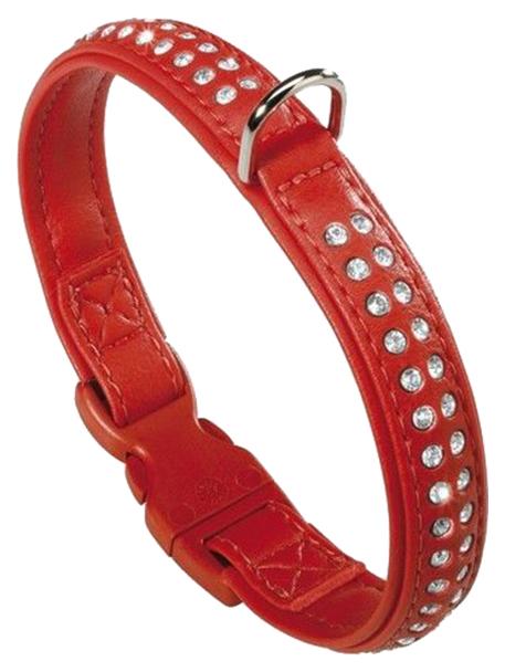 Ошейник для собак Ferplast Lux со стразами 35 см красный