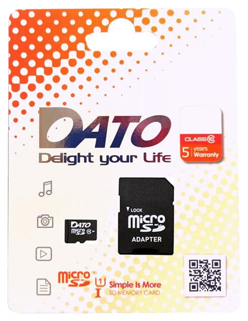 Карта памяти DATO Micro SDHC DTTF064GUIC10 64GB