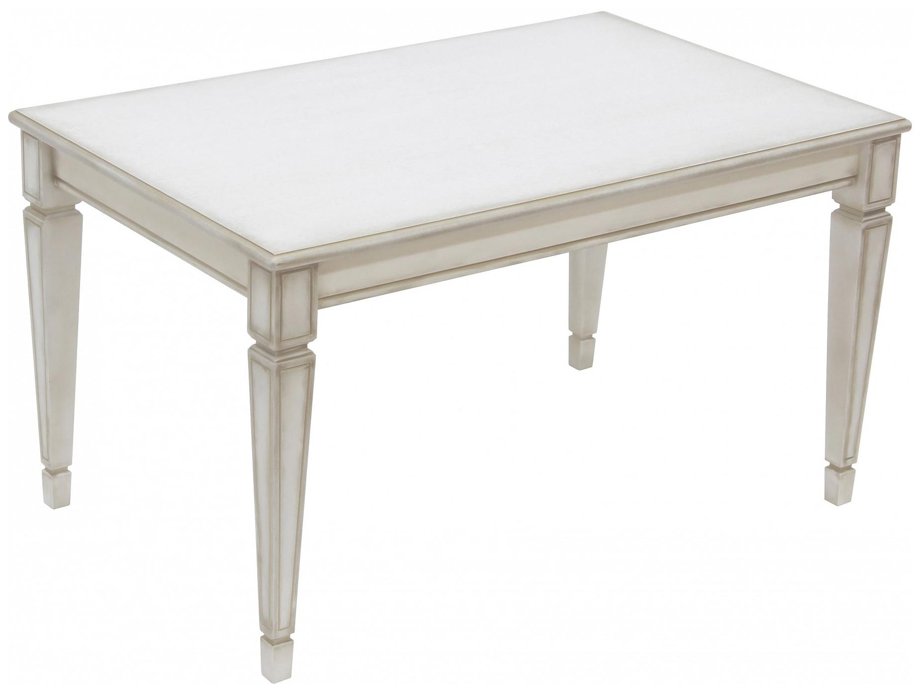 Журнальный столик Мебелик Васко В 81С В 81С 92х58х52 см, белый ясень/золото