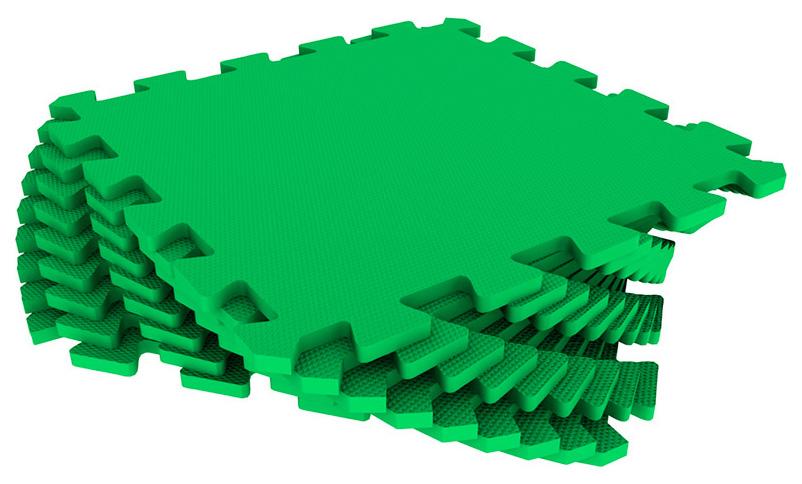 картинка Мягкий коврик Экопромторг универсальный - Зелёный (1м2), 9 дет. от магазина Bebikam.ru