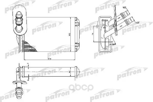 Радиатор кондиционера автомобильный PATRON PRS2074
