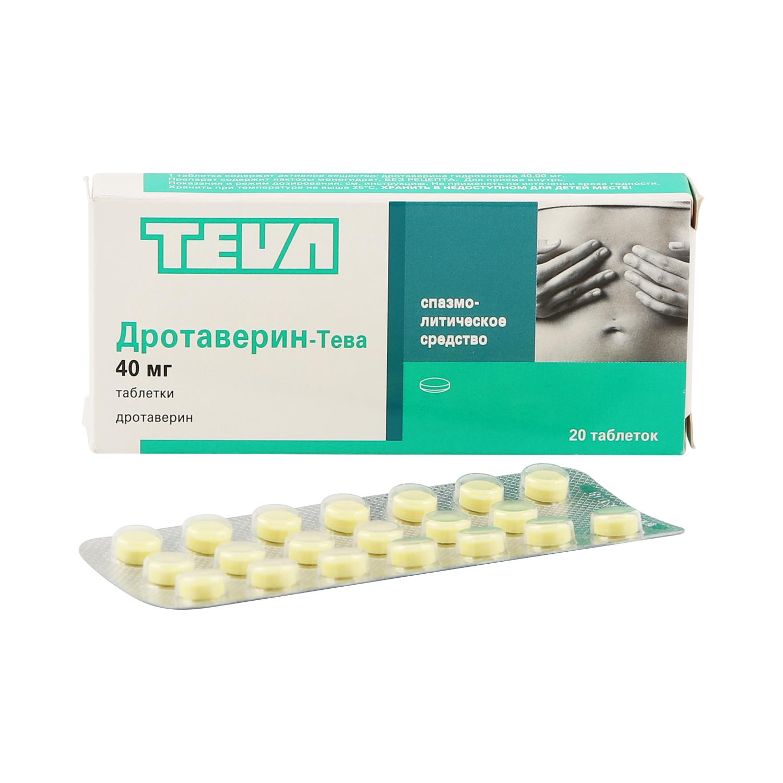 Дротаверин-Тева таблетки 40 мг 20 шт.