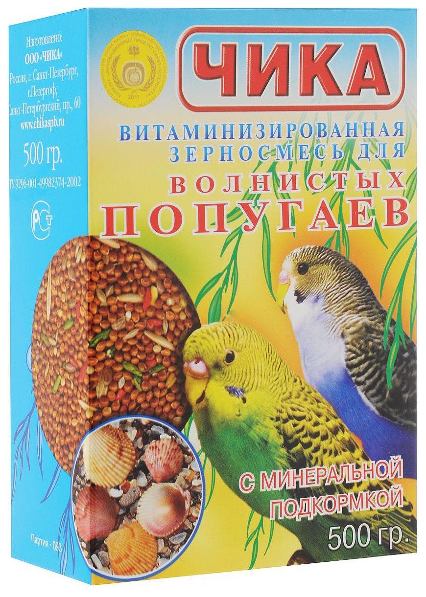 Основной корм Чика для волнистых попугаев 500 г 1 шт.