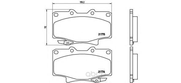 Тормозные колодки дисковые brembo P83025