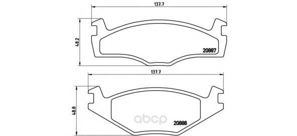 Тормозные колодки дисковые brembo P85012