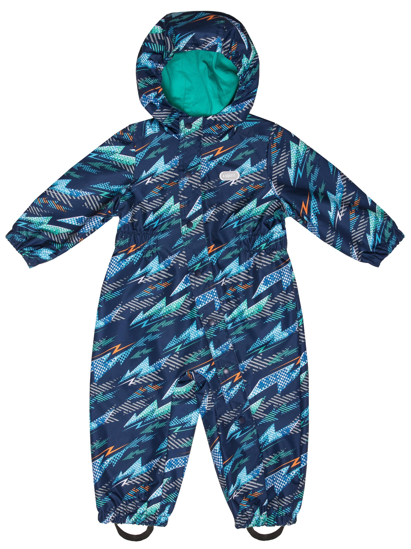 Купить Комбинезон для мальчика Barkito темно-синий с рисунком р.86, Детские комбинезоны для мальчиков