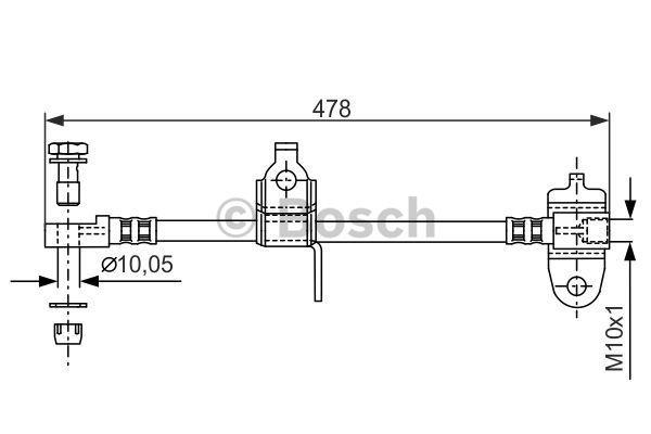 Шланг тормозной системы Bosch 1 987