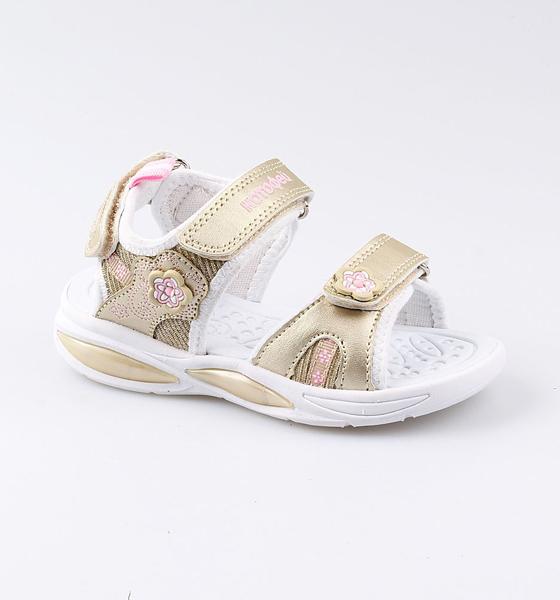 Пляжная обувь Котофей для девочки р.28 324016-12 золотистый