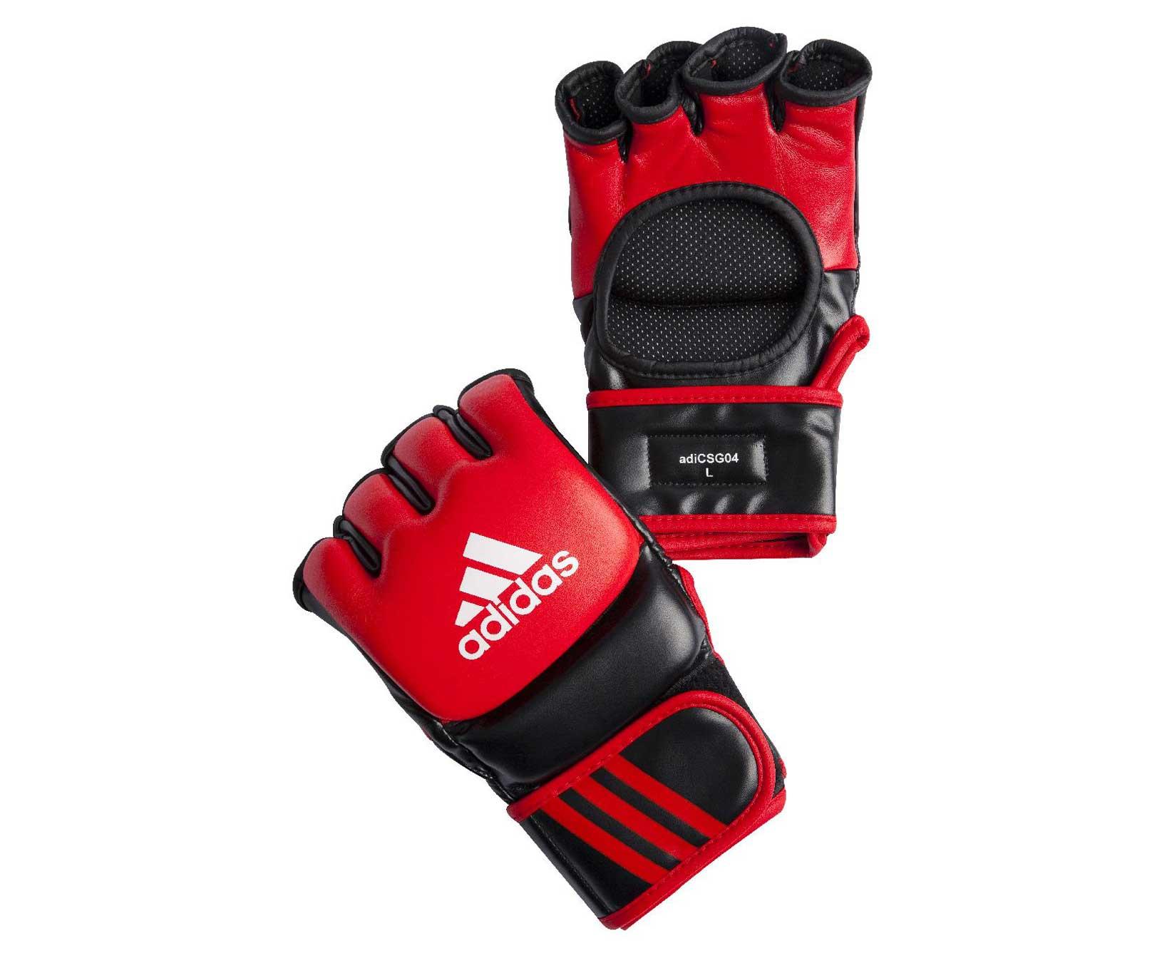 Перчатки для смешанных единоборств Adidas Ultimate Fight красно-черные XL