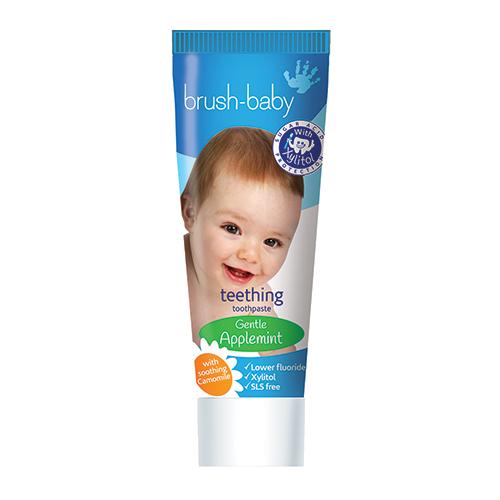Купить Детская зубная паста Brush Baby для прорезывающихся зубов до 2 лет BRB091, Brush-Baby, Детские зубные пасты