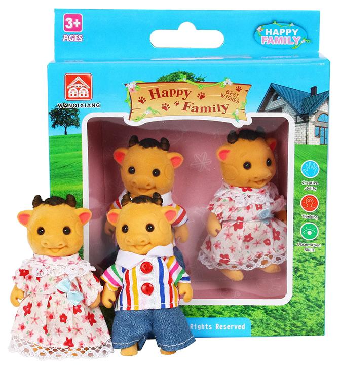 Купить Игровой набор Дрофа-медиа Happy Family Семья коровок 012-06С, Дрофа-Медиа, Игровые наборы