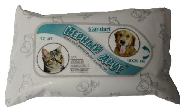 Влажные салфетки для кошек и собак Верный