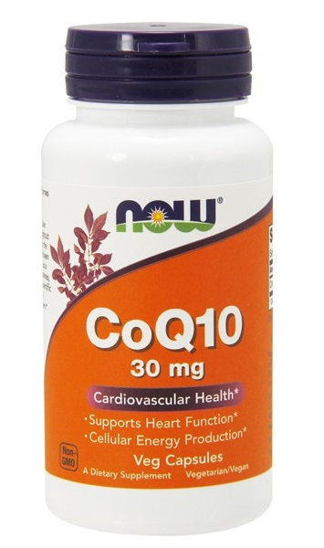 Коэнзим Q10 30 мг, 60 капсул, NOW фото