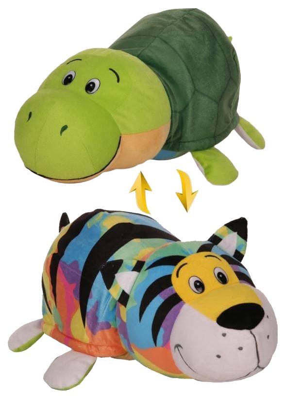 Купить Игрушка Вывернушка плюшевая Радужный тигр Черепашка 40 см 1Toy, 1 TOY, Мягкие игрушки животные